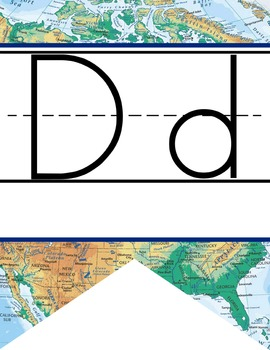 TRAVEL - Alphabet Flag Banner, handwriting, A to Z, ABC print font