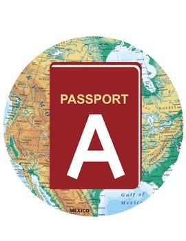 TRAVEL - CIRCLE Bulletin Board Letters / passport