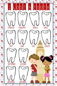 TRAVEL - Classroom Decor: I lost a TOOTH - size 24 x 36