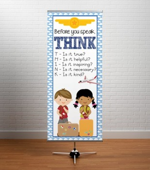 TRAVEL - Classroom Decor: LARGE BANNER, Before You Speak