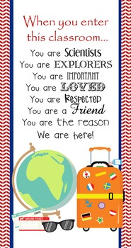TRAVEL - Classroom Decor: SMALL BANNER, When You Enter