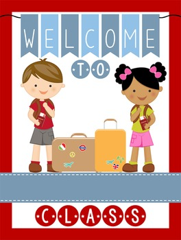 TRAVEL - Classroom Decor: WELCOME Poster - 18 x 24, you personalize, Design A
