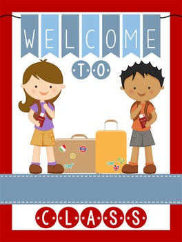 TRAVEL - Classroom Decor: WELCOME Poster - 18 x 24, you personalize, Design B