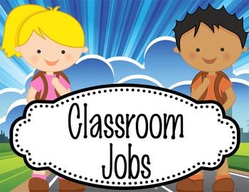 TRAVEL - Classroom Helpers JOBS clip chart