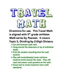 5.NBT.6 - TRAVEL MATH - Dividing 2-Digit Divisors