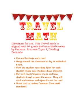 TRAVEL MATH - Dividing Decimals