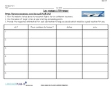 TRAVEL PLANNING WEBQUEST (FRENCH)