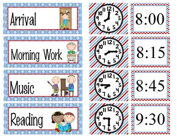 TRAVEL - Schedule Cards / editable MS WORD / Illustrated