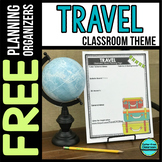 TRAVEL Theme Decor Planner by Clutter Free Classroom