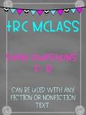 TRC MCLASS Reader's Response Levels F-R
