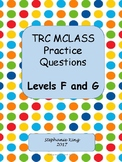 TRC Question Stems Level F and G with reading response