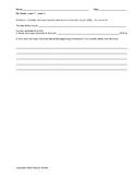 TRC Writing Practice