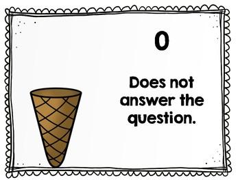 TRC Written Response Rubric Ice Cream Theme