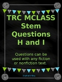 TRC Question Stems Levels H and I with reading response