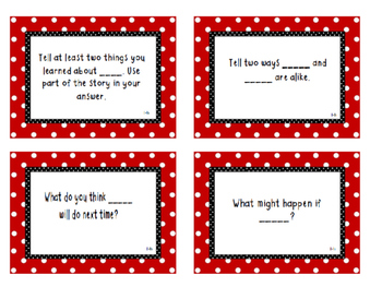 Written comprehension stem task cards