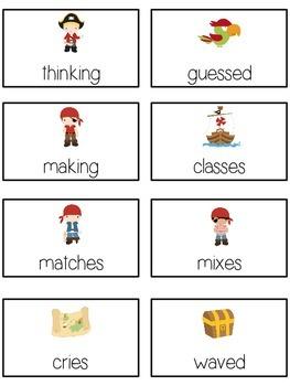 TREASURE ISLAND Inflectional Word Endings - ELA First Grade Game - Word Work