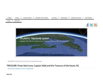 TREASURE: Pirate Ned Low, Captain Kidd and the Treasure of Isle Haute, NS