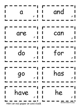 SIGHT WORDS Practice and Assessments