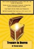 TREASURES IN HEAVEN - MATTHEW 6: 19-31