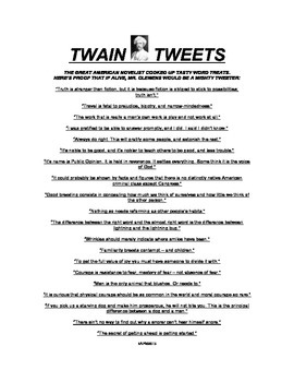 TREAT YOUR STUDENTS TO TWAIN TWEETS!