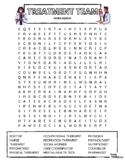 TREATMENT TEAM - Therapy Word Search Puzzle (Hospital & Pa