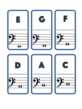 TREBLE/BASS CLEF - DOMINOES