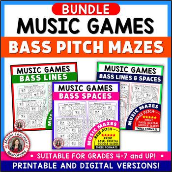 BASS PITCH MUSIC MAZE PUZZLES
