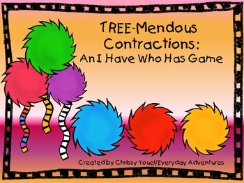 TREE-Mendous Contractions:  An I Have/Who Has Game