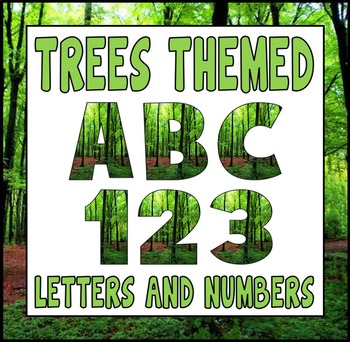 TREE THEME DISPLAY LETTERING - LETTERS NUMBERS AND PUNCTUATION - SCIENCE NATURE