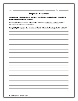 TREES Method of Paragraph Development: Writing Success for High School Students