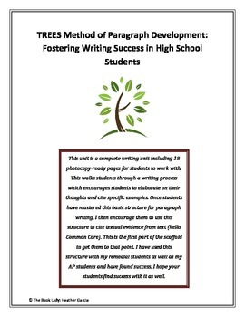 TREES Method of Paragraph Development: Writing Success for