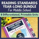 Reading Anchor Standards Year-Long MEGA BUNDLE: Units for
