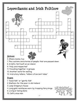 Magic Tree House Fact Tracker: Leprechauns and Irish Folklore Book Study