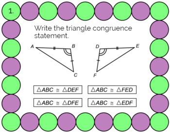 "TRIANGLE CONGRUENCE: ""DIGITAL"" BOOM CARDS (24 TASK CARDS)"