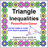 TRIANGLE INEQUALITIES IN ONE TRIANGLE:  WIPEOUT! POWERPOINT GAME