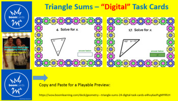 "TRIANGLE SUMS: ""DIGITAL"" BOOM CARDS (30 TASK CARDS)"
