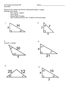Trig Ratios Worksheet Doc - best worksheet