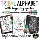 TRIBAL BOHO Classroom Decor Cursive Alphabet Posters (Grow