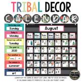 TRIBAL Classroom Decor Calendar Set (ENGLISH & SPANISH)
