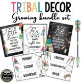 TRIBAL Classroom Decor Growing Bundle