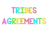 TRIBES Agreements Posters - Rainbow Theme