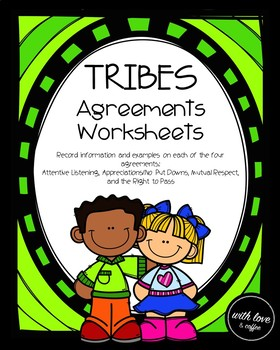 TRIBES: Agreements Worksheets