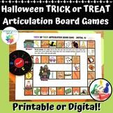 TRICK OR TREAT Halloween Articulation Board Games Speech T