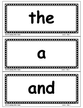 TRICK WORDS Gradel 1 WORD WALL CARDS