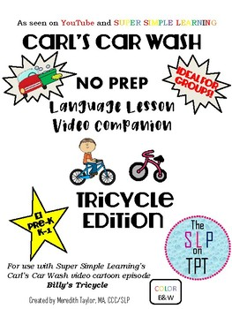 TRICYCLE Edition: Carl's Car Wash Language Lesson Video Companion