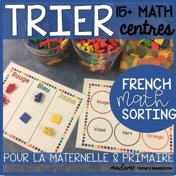 TRIER! French Math SORTING Centres