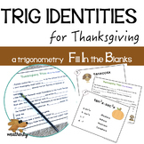 Thanksgiving - TRIGONOMETRY identities