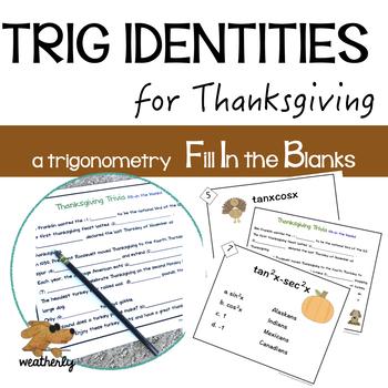 Trig Identities Activity Teaching Resources Teachers Pay Teachers