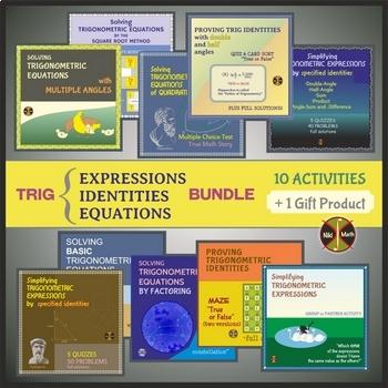 TRIGONOMETRIC (Expressions, Identities &Equations) BUNDLE Activities