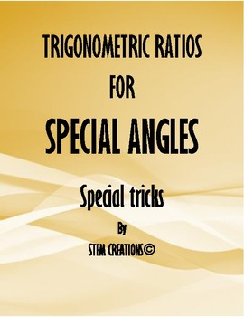 SPECIAL TRICKS: HOW TO FIND SIX TRIGONOMETRIC RATIOS